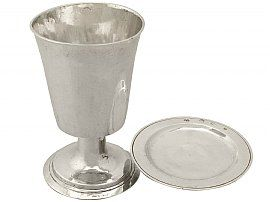 Sterling Silver Communion Chalice and Paten Set - Antique William III