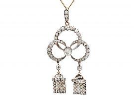 2.39 ct Diamond and 9 ct Yellow Gold Pendant - Antique Circa 1900
