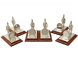 Set of Six Sterling Silver Menu Holders - Vintage Elizabeth II