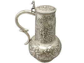 German Silver Flagon - Antique Circa 1870