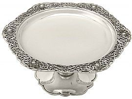 Irish Sterling Silver Tazza - Lindisfarne Style - Antique George V