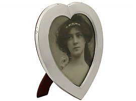 Sterling Silver 'Heart' Photograph Frame by William Comyns & Sons - Antique Victorian