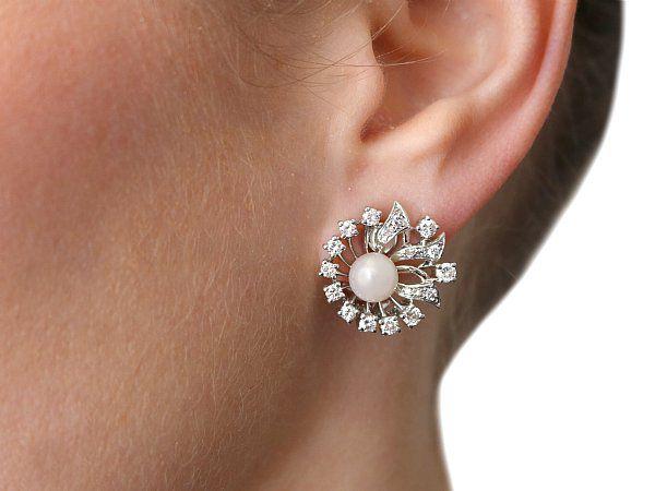 vintage clip on pearl earrings pearl jewellery for sale. Black Bedroom Furniture Sets. Home Design Ideas