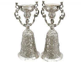 Sterling Silver Wager Cups - Antique Victorian