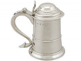 Newcastle Sterling Silver Tankard by John Langlands I - Antique George II