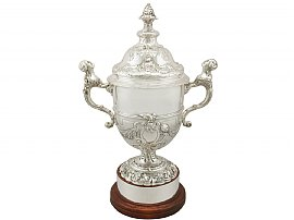 Sterling Silver Presentation Cup and Cover - Antique George V