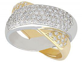 0.52 ct Diamond and 18 ct Gold Dress Ring - Contemporary 2000
