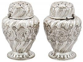 Sterling Silver Condiment Shakers - Antique Victorian (1885)