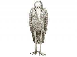 Sterling Silver Heron Sugar Box - Antique Edwardian (1910)