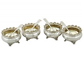 Sterling Silver Salts - Antique George IV (1820)