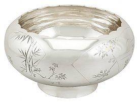 Japanese Silver Presentation Bowl - Antique Circa 1940