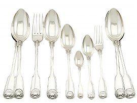 German Silver Canteen of Cutlery for Ten Persons - Antique Circa 1910