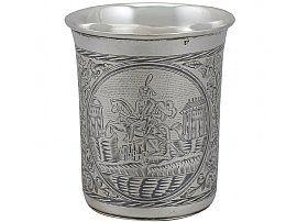 Russian Silver & Niello Enamel Beaker - Antique 1839