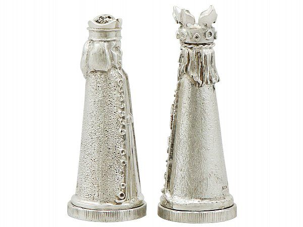 Sterling Silver Salt And Pepper Shakers Antique Silver Ac Silver