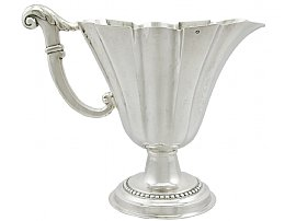 Italian Sterling Silver Jug - Antique Circa 1820