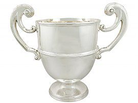 Sterling Silver Presentation Champagne Cup - Antique Victorian (1899)