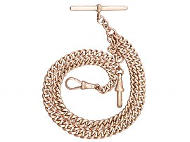 9 ct Rose Gold Double Albert Watch Chain - Antique Circa 1900