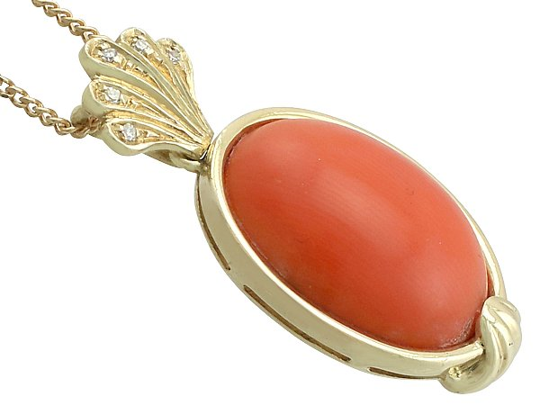 genuine pink white not natural coral in solid pendant enhanced products gold wgp