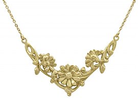 18 ct Yellow Gold Necklace - Antique French Circa 1920