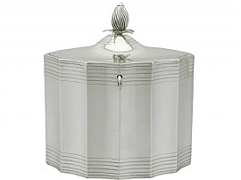 Sterling Silver Locking Tea Caddy by Henry Chawner - Antique George III (1792)