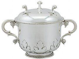 Britannia Standard Silver Porringer - Antique Victorian (1898)