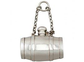Sterling Silver Combination Scent Bottle / Pill Box / Vinaigrette - Antique Victorian (1871)