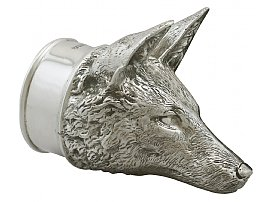 Sterling Silver Fox Stirrup Cup - Contemporary 2012