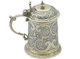 German Silver Tankard - Antique Circa 1610