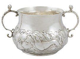 Sterling Silver Porringer - Antique Charles II (1671)