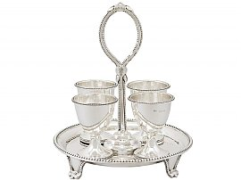 Sterling Silver Egg Cruet Set For Four Persons - Antique Victorian (1891)