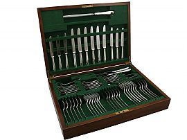 Sterling Silver Canteen of Cutlery for Six Persons - Vintage (1970)