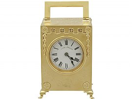 Sterling Silver Gilt Mantel Clock - Antique Edwardian (1905)