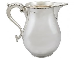 Sterling Silver Beer / Water Jug by Thomas Chawner- Antique George III (1786)