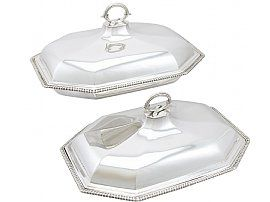 Sterling Silver Entree Dishes by Daniel Smith & Robert Sharp - Antique George III (1787)