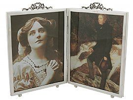 Sterling Silver Quadruple Photograph Frame - Antique Victorian (1897)