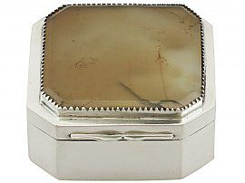 Sterling Silver and Hardstone Box - Antique George III (1781)