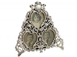Sterling Silver Photograph Frame - Antique Victorian (1900)