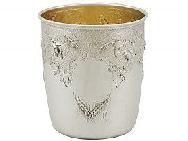 Scottish Sterling Silver Beaker - Antique Victorian (1865)