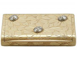 French 18 ct Yellow Gold and Diamond Box by Van Cleefe & Arpels - Vintage Circa 1950