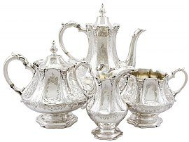Sterling Silver Four Piece Tea and Coffee Service - Antique Victorian (1848)
