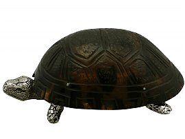 Sterling Silver 'Tortoise' Vesta Box - Antique Victorian (1882)