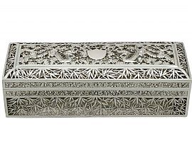 Chinese Export Silver Box by Wang Hing & Co - Antique Circa 1890