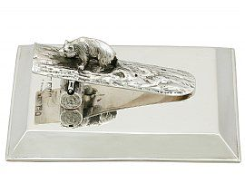 Sterling Silver Paperweight / Letter Clip - Antique George V (1910)