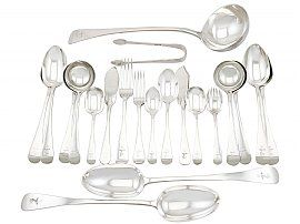 Sterling Silver Canteen of Cutlery by George Adams - Antique Victorian (1881)