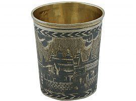 Russian Silver Gilt and Niello Enamel Beaker - Antique 1827