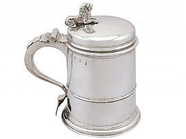 Britannia Standard Silver Quart Tankard - Antique Queen Anne (1704)