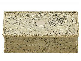 Sterling Silver Gilt Snuff Box - Antique George IV (1824)