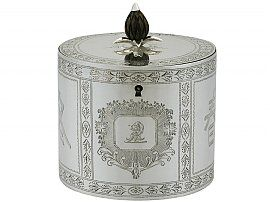 Sterling Silver Locking Tea Caddy - Antique George III (1780)