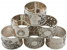 Chinese Export Silver Napkin Rings - Antique Circa 1900 / 1930