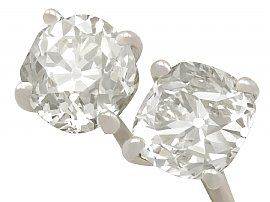 2.28ct Diamond and 18ct White Gold Stud Earrings - Antique and Contemporary